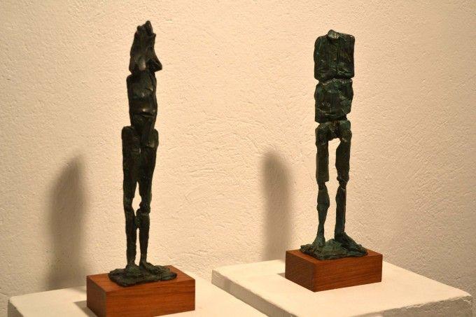 A l'exposició de Lau Feliu de la Sala Sant Roc de Valls