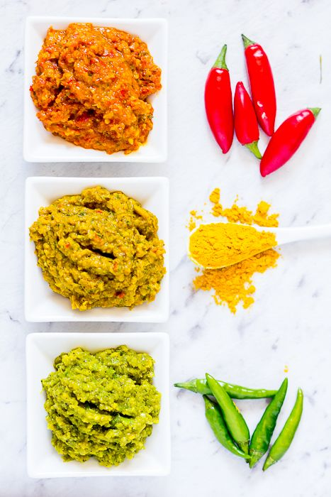 "Making Thai-style red, yellow or green curry pastes has never been so easier than with this ""one size fits all"" recipe"