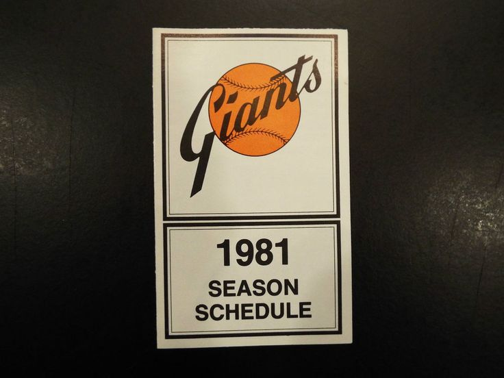 1981 san fransisco #Giants schedule  from $4.95