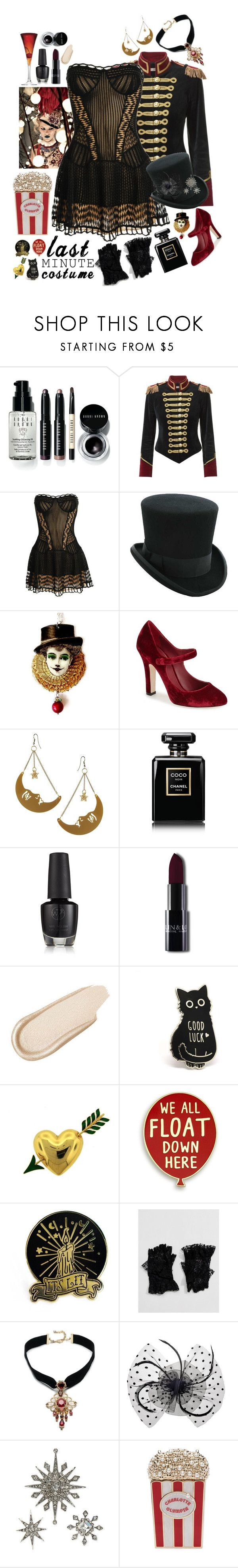 """To The Circus!"" by leo8august ❤ liked on Polyvore featuring Bobbi Brown Cosmetics, Pinky Laing, Christian Dior, Dolce&Gabbana, Tatty Devine, Chanel, Charlotte Russe, Van Cleef & Arpels, ASOS and Carolee"