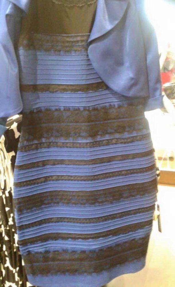 Focus de schwarz blaues kleid