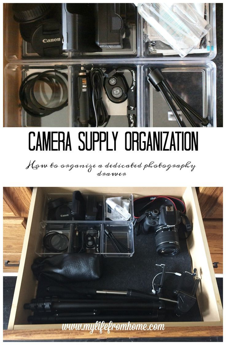 Organize Me: Camera Supply Drawer - My Life From Home