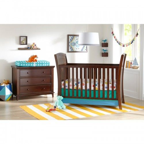 The Elise 3-in-1 Crib features gracefully curved ends and well-proportioned side rails to bring a simple charm while giving an open feel. All Kolcraft cribs make assembly quick and easy with their Built-in-Hardware. All of the hardware is pre-installed so all you have to do is align and tighten! Three mattress position levels provide comfort and safety for your baby at all stages of development. The contemporary sleigh designed piece converts into a toddler bed and day bed with the two…