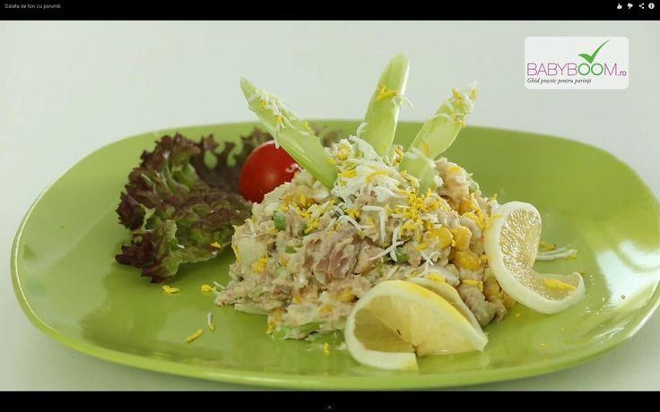Salată de ton cu porumb. Reţeta o puteţi găsi aici în format text dar şi video: http://www.babyboom.ro/salata-de-ton-cu-porumb/