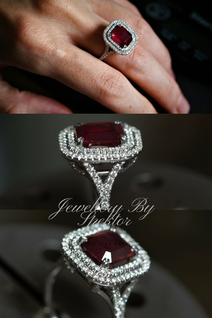 Ruby ring ruby engagement ring ruby and diamond ring k gold