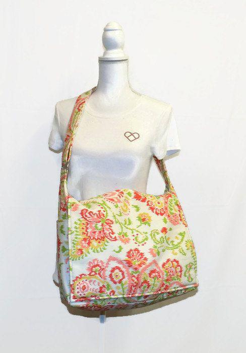 Diaper Bag- Large Diaper Bag - Messenger Diaper Bag - Messeber Bag -Handmade Diaper Bag - Ready to Ship Bag - New Mom Gift- Baby Shower Gift by Mawufemor on Etsy