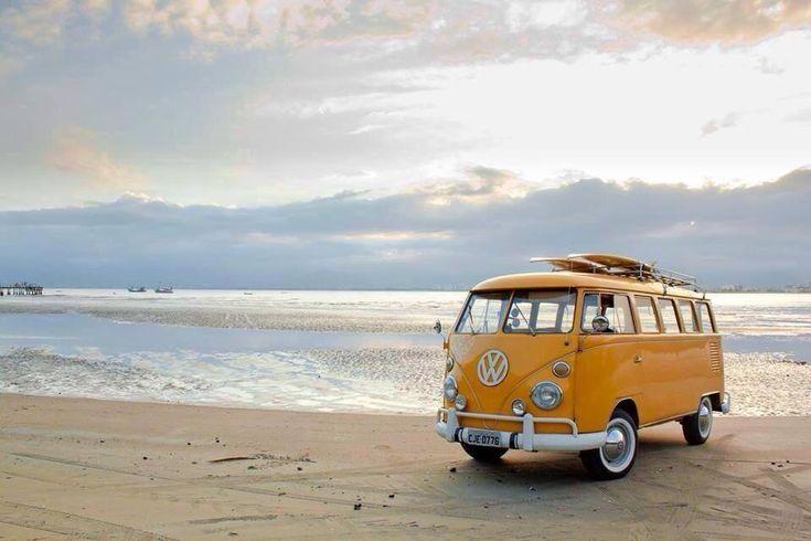 Lovely orange camper