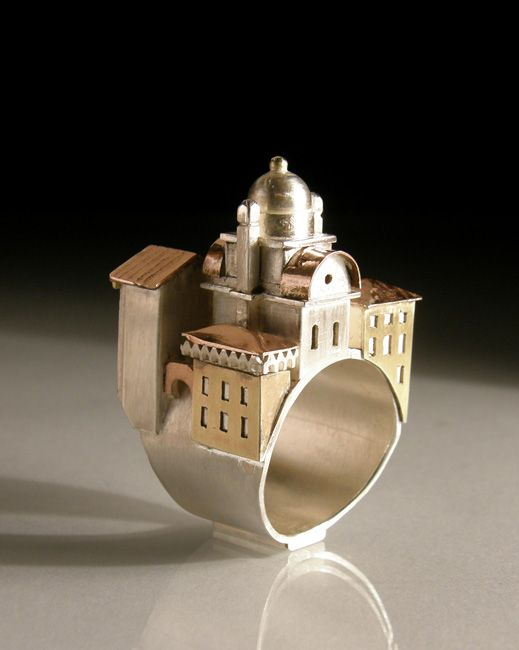 Venice ring-Vicki Lambery-Smith: Hollow Rings, Architectural Rings, Venice Ring, Sculptural Rings, Ambery Smith Ring, Vicki Ambery Smith, Jewish Wedding Ring