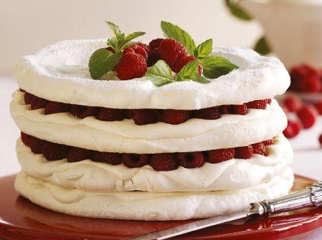 Marengskage med hindbær