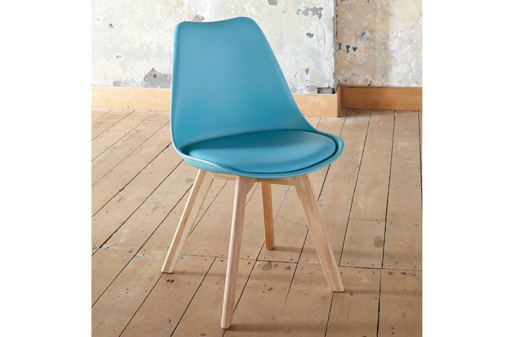 The Stuka Office Chair in teal blue offers great comfort and a splash of colour to brighten the room.