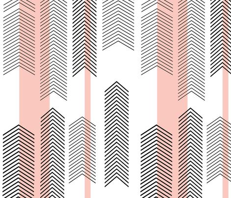 pink chevron stripe fabric by cristinapires on Spoonflower - custom fabric