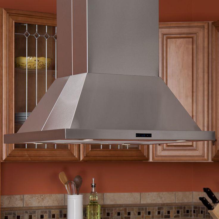 "36"" Arezzo Series Stainless Steel Island Range Hood - 470 CFM Fan"