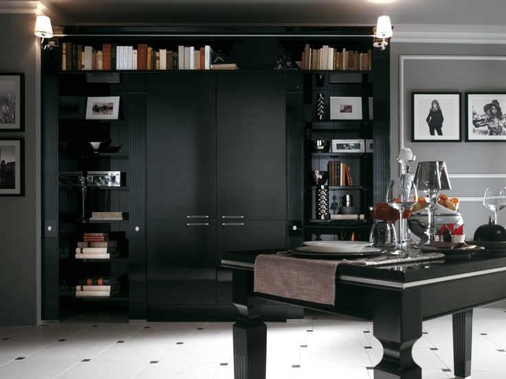 Baccarat by Gianni Pareschi. Prestige pillar fronts and details.  #kitchen #Scavolini