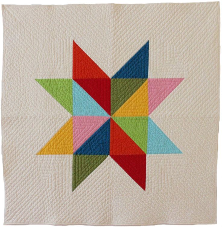 Star baby quilt. By Bunch & Rosa.