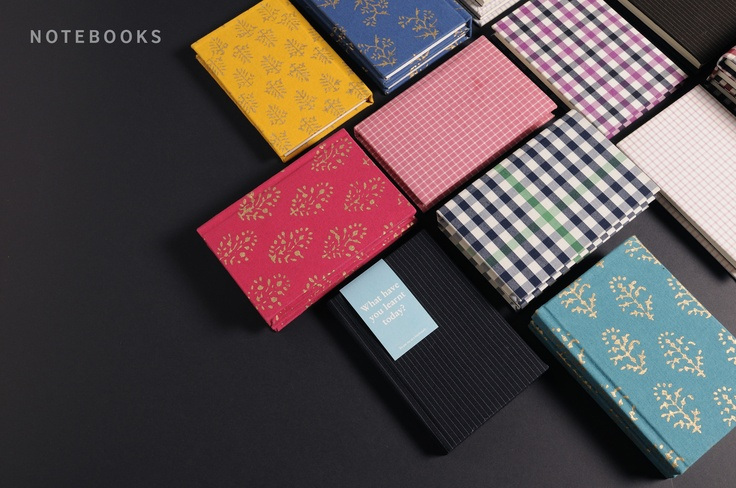 notebooks of various sizes which are handmade and made of Luxury Cream Ruled Paper.