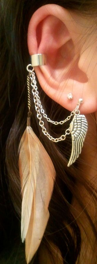 ear cuff with post earring