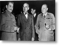 The Potsdam Conference, Joseph Stalin Metal Print by Everett