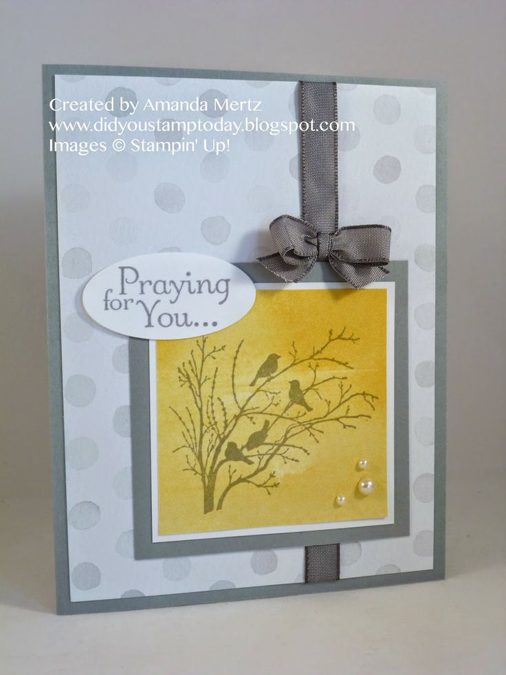 Stamps: Serene Silhouettes, Thoughts  Prayers Ink: Smoky Slate, Basic Gray Paper: Smoky Slate, Watercolor Wonder DSP, Whisper White Accessories: Basic Gray taffeta ribbon, pearls, oval punch