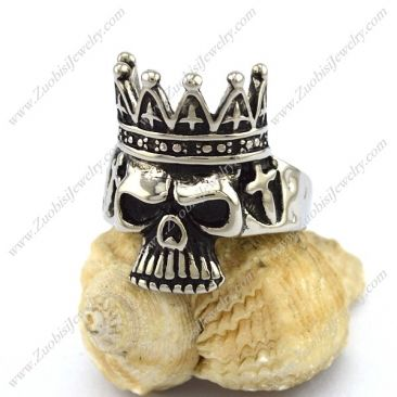 The Skull King Ring r002894 Item No. : r002894 Market Price : US$ 30.60 Sales Price : US$ 3.06 Category : Skull Rings