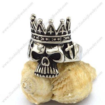 The Skull King Ring r002894 Item No. : r002894 Market Price : US$ 30.60 Sales Price : US$ 3.06 Category : Skull Rings