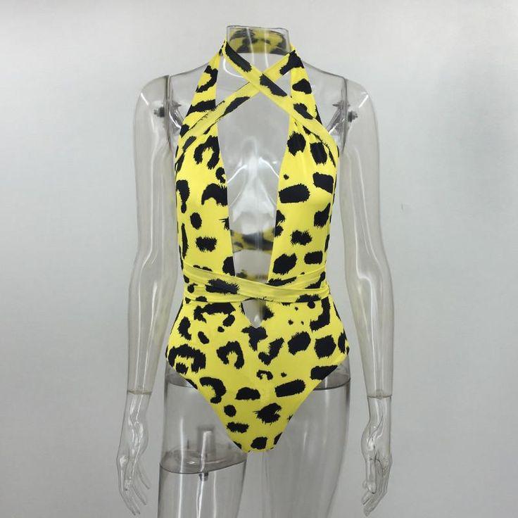 Pfflook Brand Bathing Bikini Women Sexy Bikini Set Double-deck Milk Print Halter Neck Swimsuit Maillot De Bain Femme Swimsuit