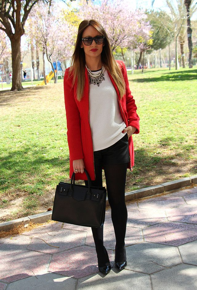 Mi Nuevo Abrigo Rojo. | Chicisimo | Moda | Pinterest | Work Outfits Blazers And Formal