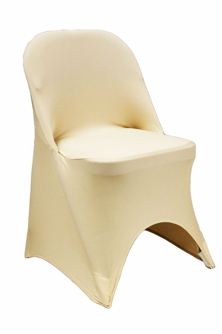 Folding+Spandex+Chair+Cover+-+Champagne