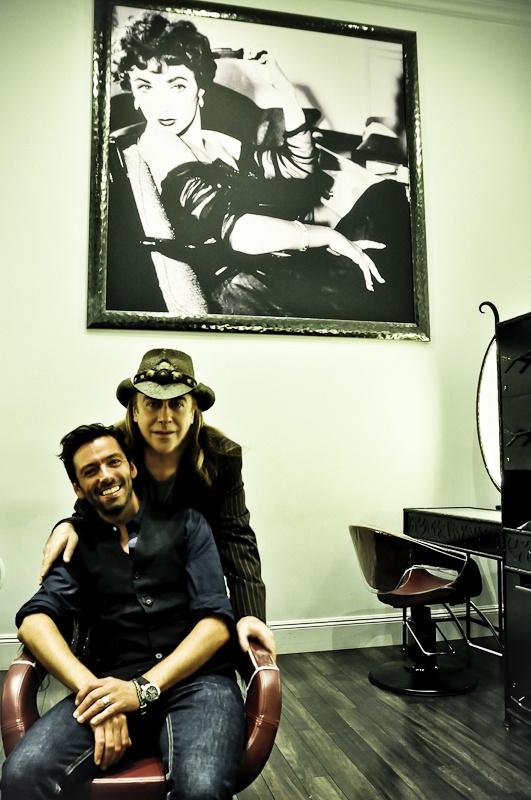 Jose Eber posing in his salon 360 Camden Dr.