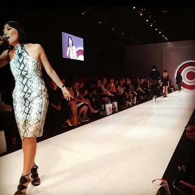 Dami on the Catwalk performing for Target Fashion parade.