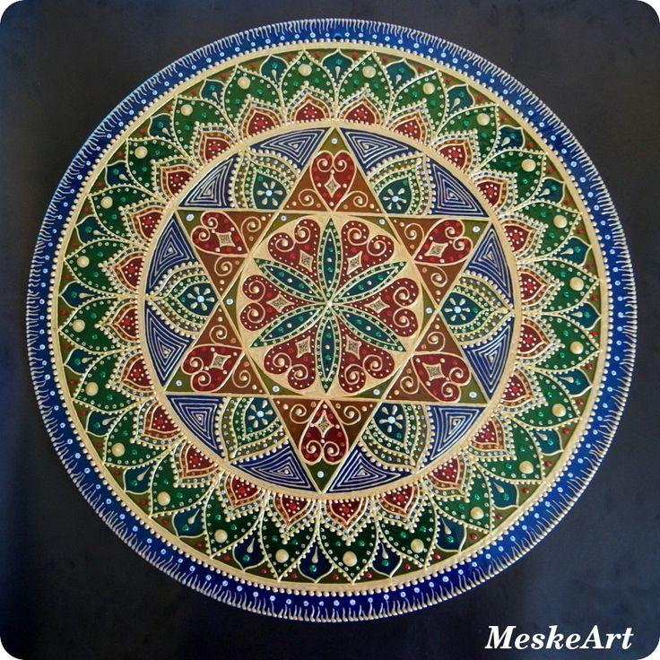 Egészség, harmónia szerelem mandala 40 cm-es üveglapon, fúrt lyukkal / Health, harmony and love mandala #mandala #egészség #harmony #szerelem