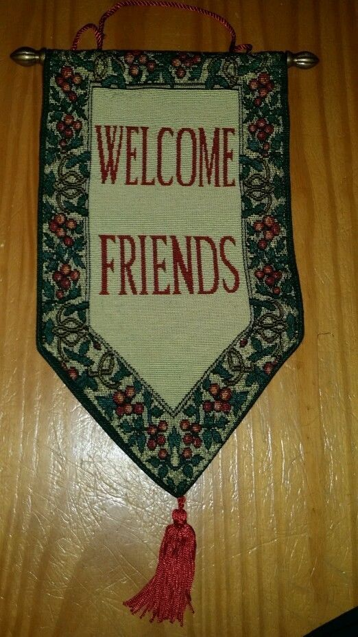 stonewitwords tapestry wall hanging 8 x 15 welcome on wall hangings id=50842