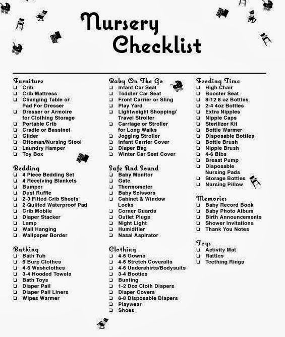 Mommy Must Haves Nursery Checklist Baby Bliss