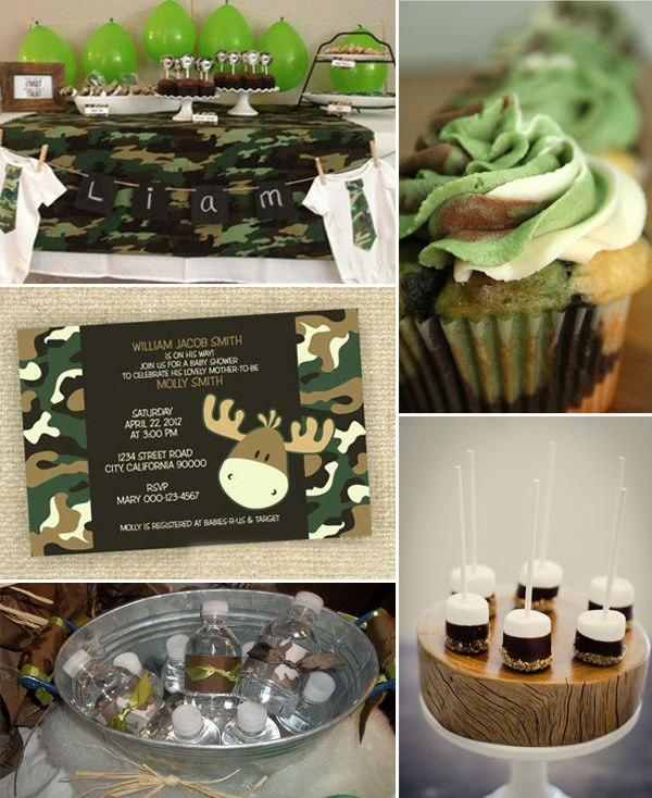 camo baby shower ideas baby shower ideas pinterest baby shower