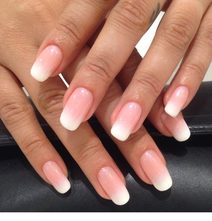 Medium Pink Ombre Nails Inspiring Ladies Gel Nails French Pink Ombre Nails Ombre Nails