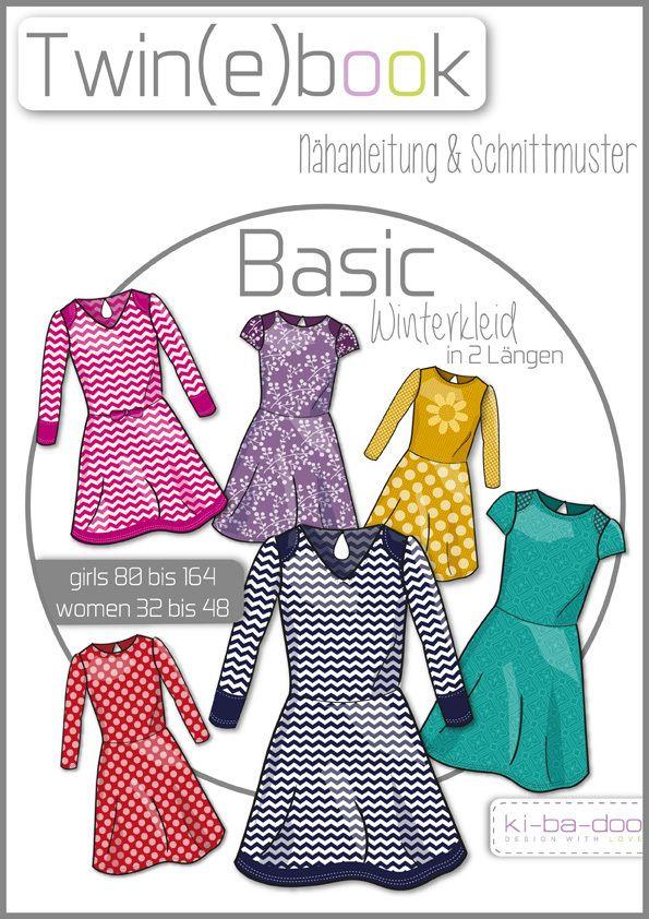 Twin(e)book Basic Winterkleid - Schnittmuster und Anleitung als PDF, versandkostenfrei