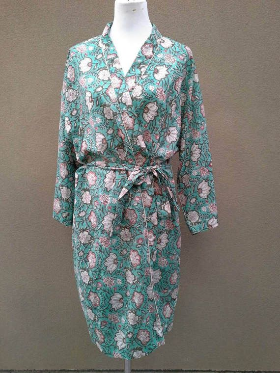 Check out this item in my Etsy shop https://www.etsy.com/au/listing/504599186/cotton-bathrobe-kimono-indian-block