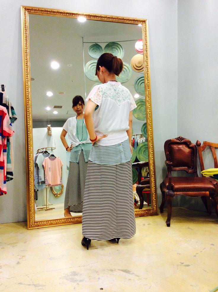 夏旅行コーデ☆        Model : shop assistant T