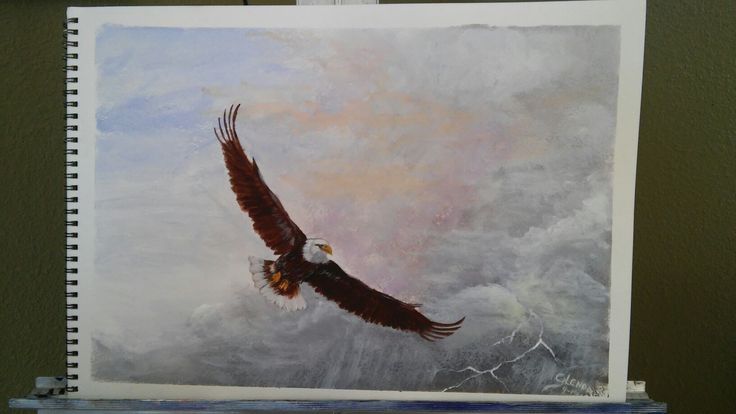 """Then a Time to Soar"", 11x14 Acrylic on Water Paper"