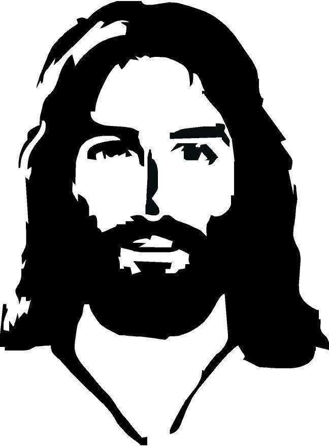 Jesus Face Vinyl Decal   Inspirational   Jesus face, Jesus ...