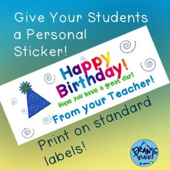 A sticker that lets students know that they are special and you are thinking of them