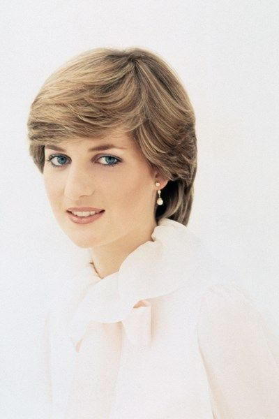 Diana, Princess of Wales photographed by Lord Snowdon as an 'upcoming beauty' for the February 1981 issue of Vogue wearing a white blouse by her eventual wedding dress designers David and Elizabeth Emanuel.