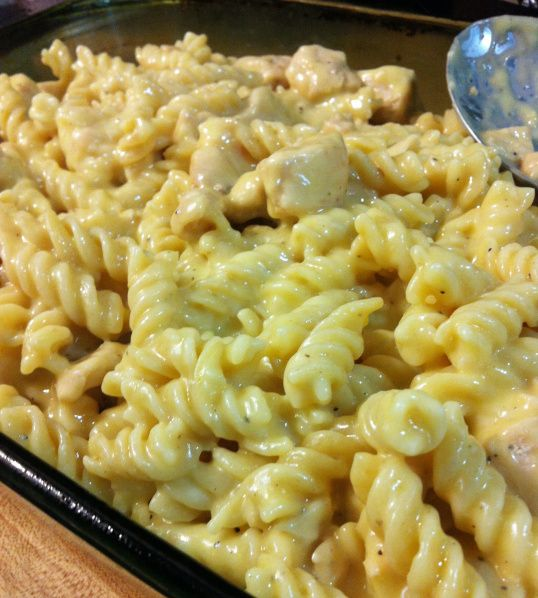 Cheesy chicken casserole: made this tonight good but will adjust it some next time wa