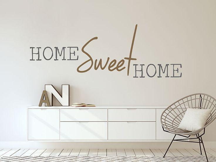 Home Sweet Home - Schriftzug zum Aufkleben als Wandtattoo im Flur, dem Wohnzimmer oder Schlafzimmer. <3