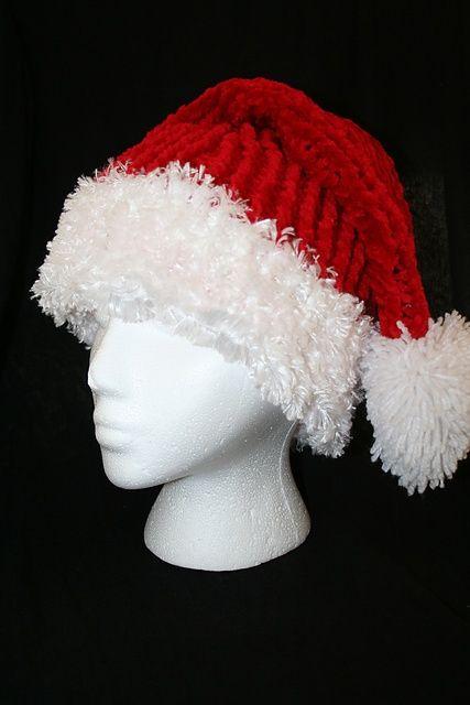 Santa Hat For Cat Knitting Pattern