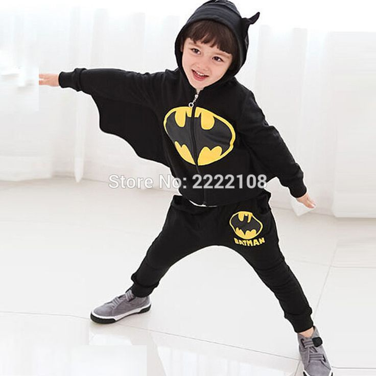 New Kids Cosplay Halloween Costume 2016 winter children's clothing suits Cartoon batman costume children Black suit boys clothes #Affiliate