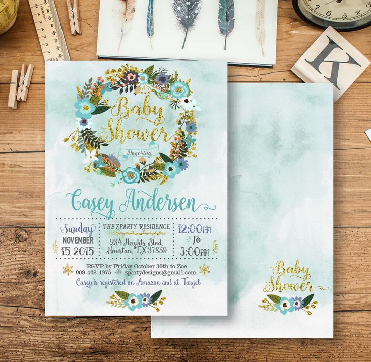 Best Rustic Digital Paper Scrapbook Images On Baby Shower Invitation