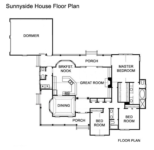 1000 images about blueprints and floor plans on pinterest for Ranch house plans with 2 master suites