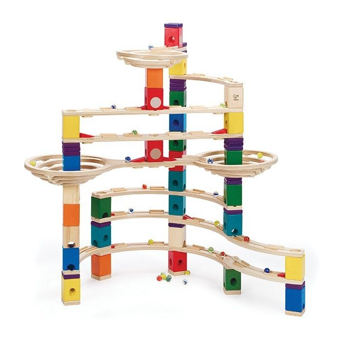 Quadrilla Marble Run - The Challenger - how refreshing to see a marble run made from wood, this would deliver hours of fun #EntropyWishList #PinToWin