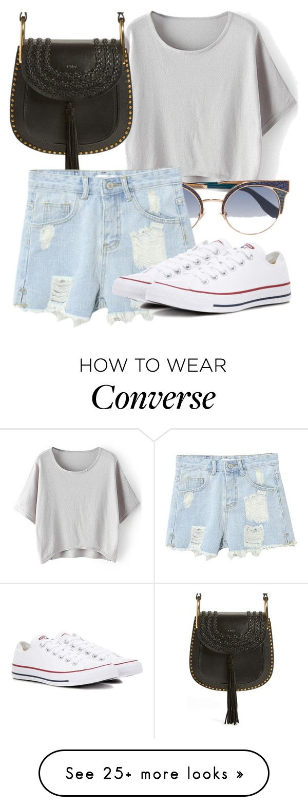 """""""Untitled #4023"""" by beatrizvilar on Polyvore featuring Chloé, Jimmy Choo, WithChic and Converse"""