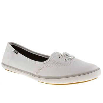 Womens White & Black Keds Teacup Trainers | schuh